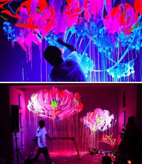 glow in the paint room las vegas 230 best black light decorating ideas for