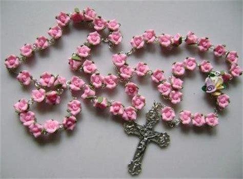 pink rosary beautiful pink soft cerami rosary cross