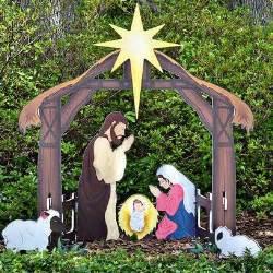 outdoor creche best 25 outdoor nativity sets ideas on