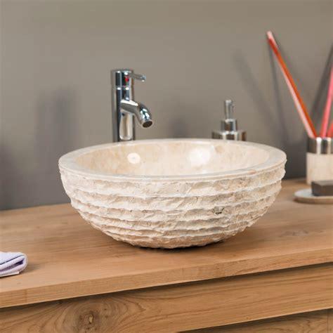 vasque 224 poser en marbre v 233 suve ronde cr 232 me d 40 cm