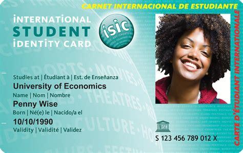 make a student card isic international student identity card kilroy
