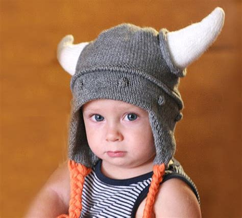 viking knit hat viking hat child knit hat viking hat with hornes