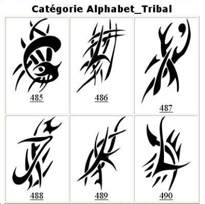 alphabet tribal 011 international publicit 233