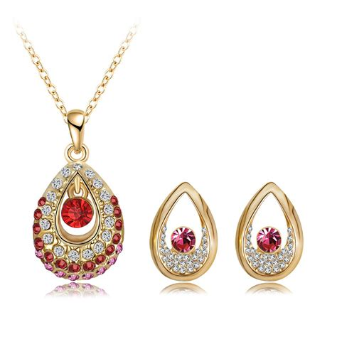 jewelry on 2015 new arrival jewelry set 18k gold plated with