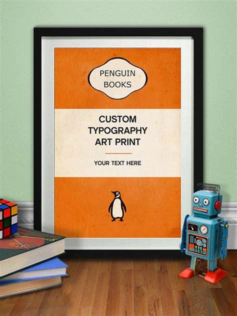 penguin picture books custom typography print penguin classic poster