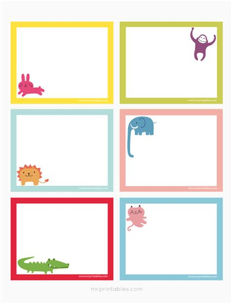 make note cards and print animals printable note cards mr printables