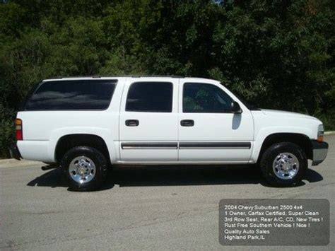 how to fix cars 2004 chevrolet suburban 2500 user handbook find used 2004 chevy suburban 2500 ls 4wd 3rd row 1owner rear a c carfax new tires nice in
