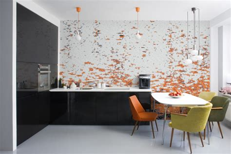 wall murals for kitchen decoration awesome modern kitchen with mosaic wall murals