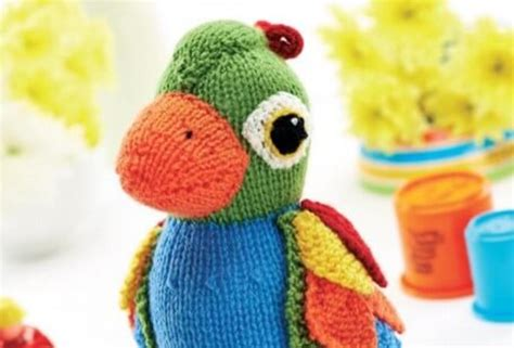 parrot knitting pattern free colorful knitted parrot soft free knitting pattern