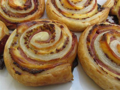 roules feuilletes jambon fromage