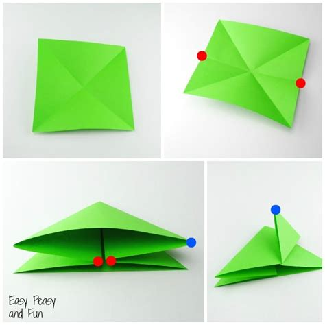 how to make origami frogs origami frogs tutorial origami for easy peasy and