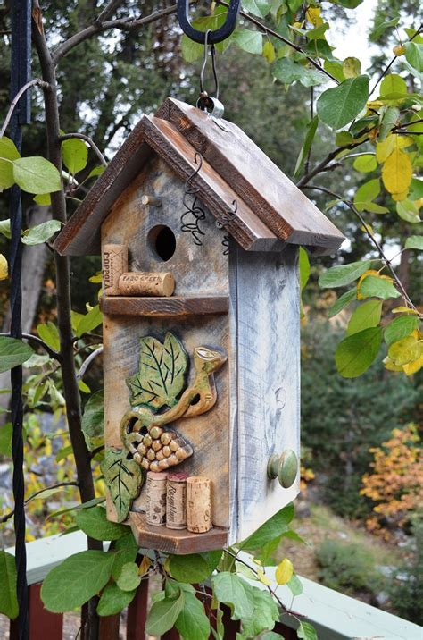 Primitive Home Decor Coupon Code birdhouse primitive wine cork storage box repurposed