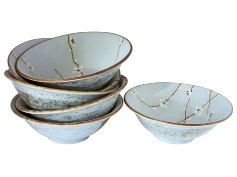 Ceramic Kitchen Canisters cherry blossom on blue shallow japanese ceramic bowls set