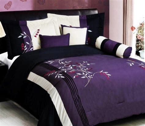 purple and black comforter set 17 best ideas about purple bedding sets on