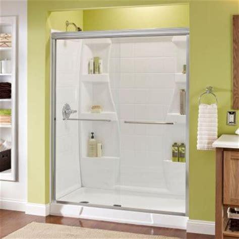 sliding shower doors home depot delta simplicity 59 3 8 in x 70 in bypass sliding shower
