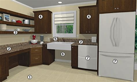universal kitchen design aging in place and universal design atlanta home improvement