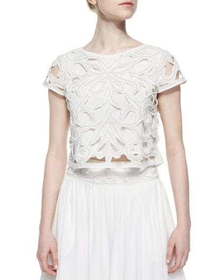 white beaded crop top abbi beaded embroidered crop top white