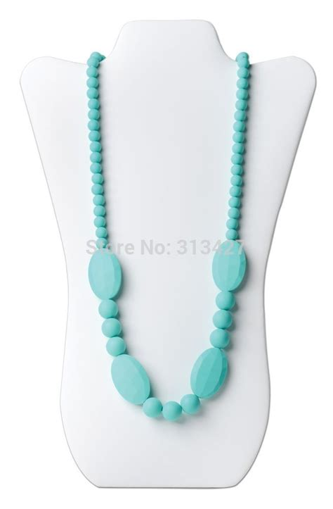 silicone necklace 2015 bpa free silicone teething nursing necklace for baby