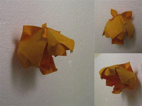 tiger origami origami tiger by h on deviantart