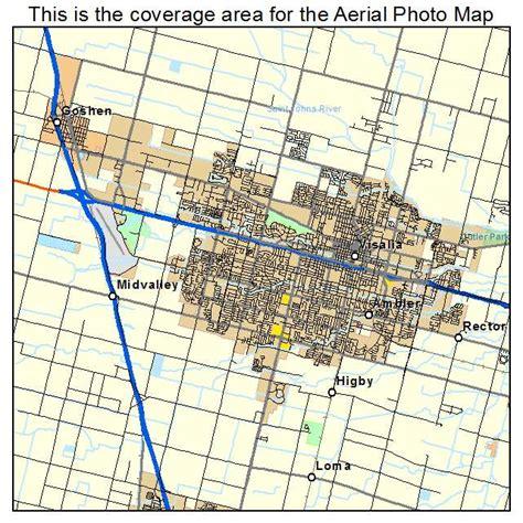 visalia ca aerial photography map of visalia ca california