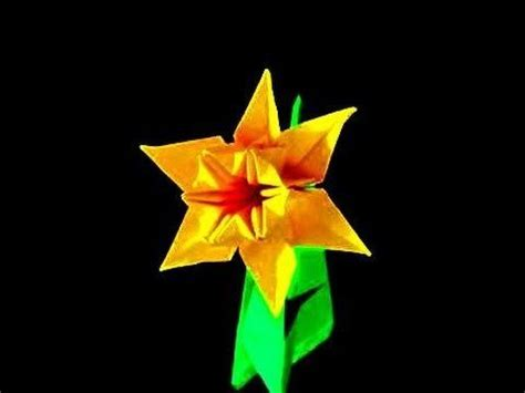 origami daffodil daffodils origami and how to make an on