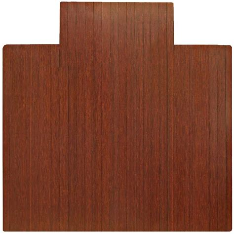 Bamboo Desk Chair Mat by 55 X 57 Bamboo Chair Mat With Tongue In Chair Mats