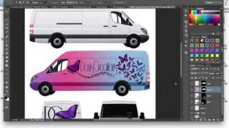 Car Photoshop Program by How To Make A Commercial Cargo Car Wrap Mockup
