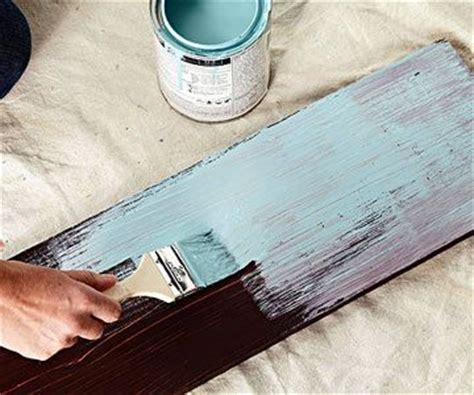 how to distress acrylic paint on canvas how to paint distressed wood furniture
