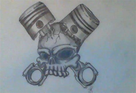 Awesome Car Wallpapers For Gearhead Tattoos by Skull Pistons Rq By Foxsnot On Deviantart