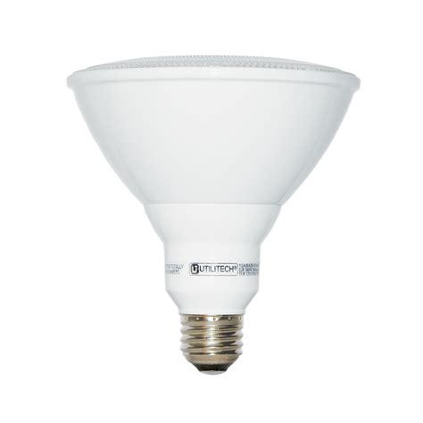 75 watt led light bulbs shop utilitech 75 w equivalent warm white par38 led flood
