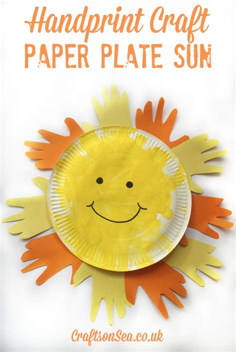 paper plate sun craft paper plate sun sun crafts for crafts on sea