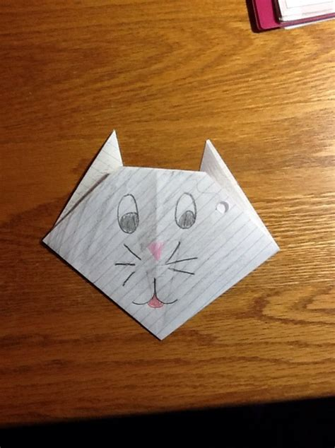 notebook origami how to make an origami cat from notebook paper snapguide