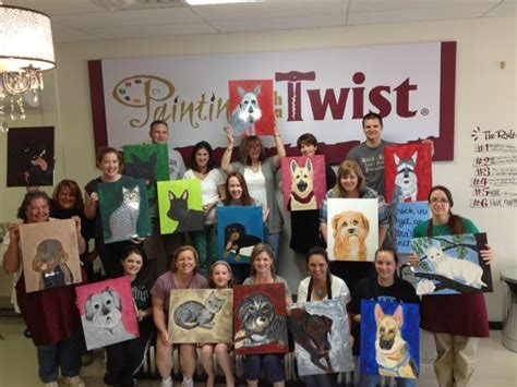 painting with a twist lansing paint your pet 19 best images about pwat class photos on