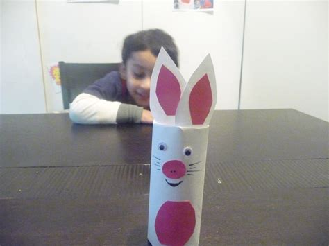 bunny toilet paper roll craft playdate crafts ideas more toilet paper roll bunny