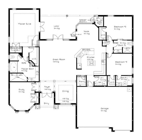 single story floor plans 1000 ideas about open floor plans on open