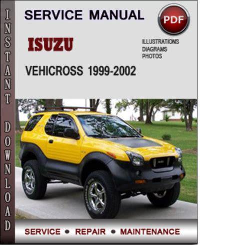 motor repair manual 2000 isuzu vehicross on board diagnostic system isuzu vehicross 1999 2002 factory service repair manual download pd