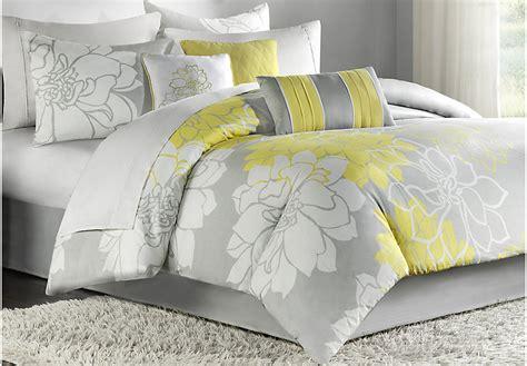 yellow comforter sets lola gray yellow 7 pc comforter set linens