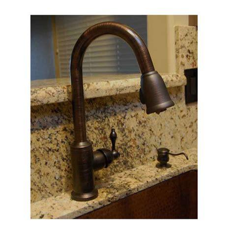 copper kitchen faucet premier copper single handle kitchen faucet with pull out