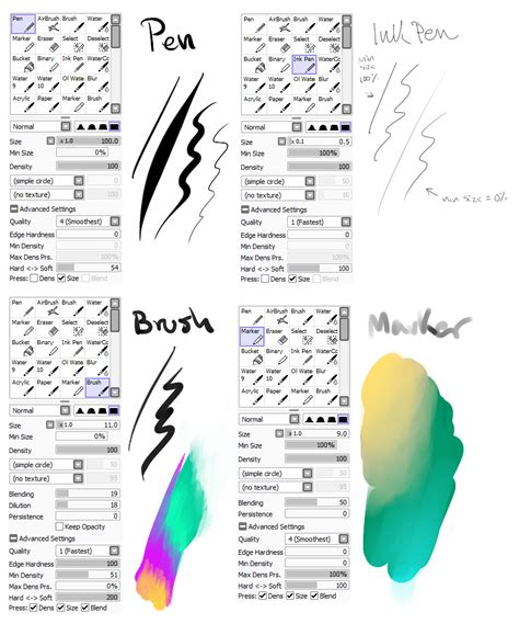 paint tool sai background brushes my brush settings by snowy town on deviantart