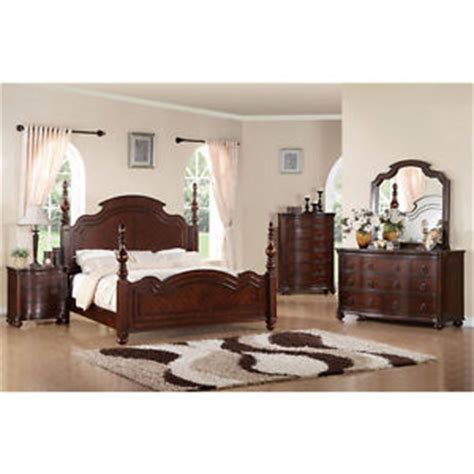solid cherry bedroom furniture sets solid wood devonshire brown cherry finish 6 bedroom