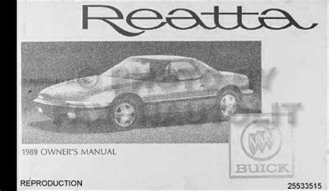 car engine repair manual 1989 buick riviera parental controls 1989 buick riviera reatta repair shop manual original