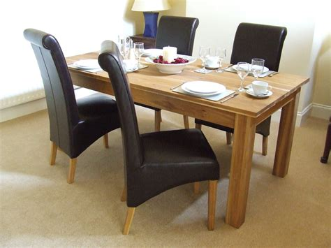 oak dining table set oak solid oak dining table set 160cm leather dining