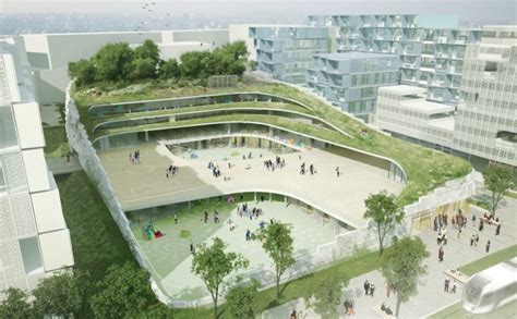 landscape design school primary school sport chartier dalix architects