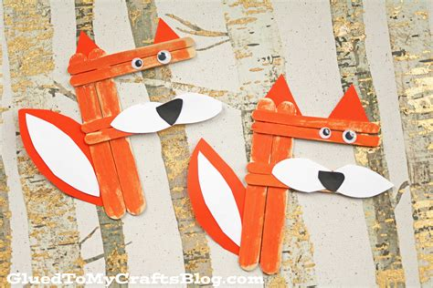 fox craft for f is for fox craft stick fox kid craft glued to my crafts