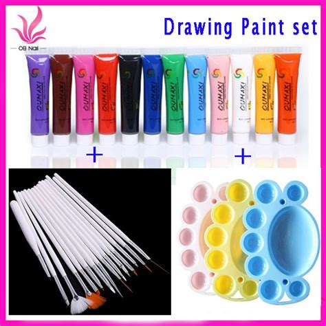 3d acrylic paint nail aliexpress buy free shipping 12 colors acrylic paint