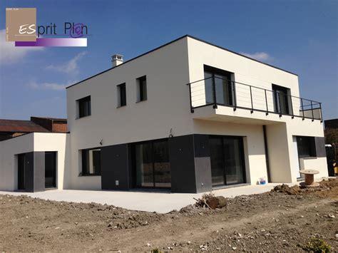 Realisations Maison Extensions Renovations Sur Arras Maison Contemporaine Toit Plat Tarif