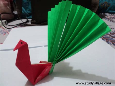 what to make with how to make beautiful paper peacock step 15