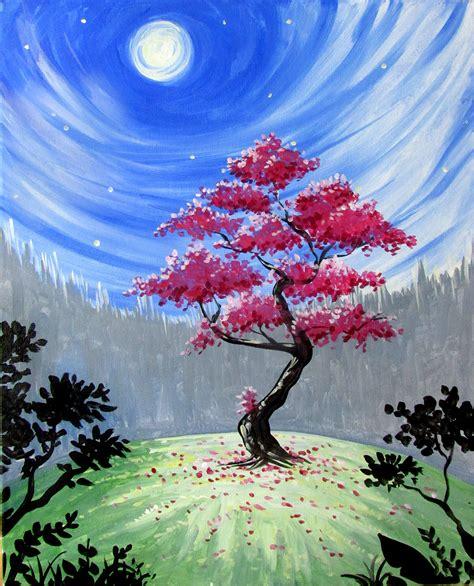 paint nite tree mystical tree by lyle paint nite