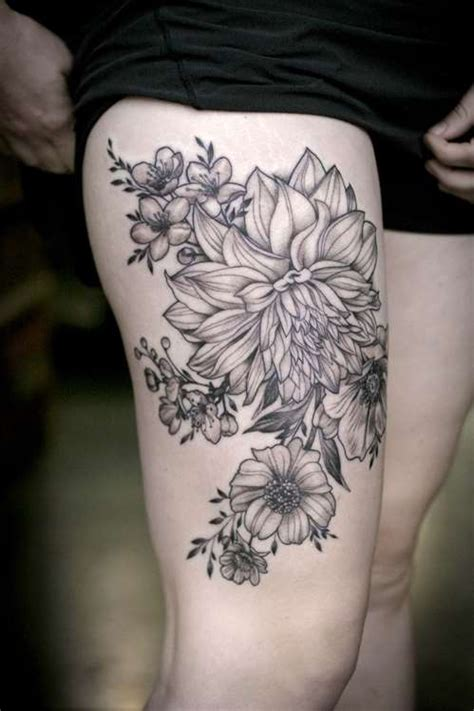 flower garden tattoos thigh tattoos best in 2017