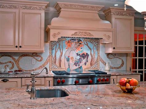 kitchens with mosaic tiles as backsplash ceramic tile backsplashes pictures ideas tips from